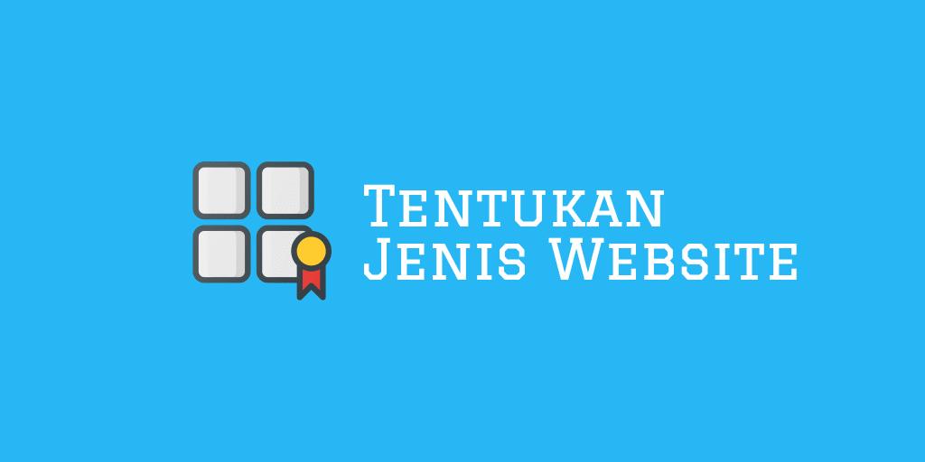 Tentukan Jenis Website
